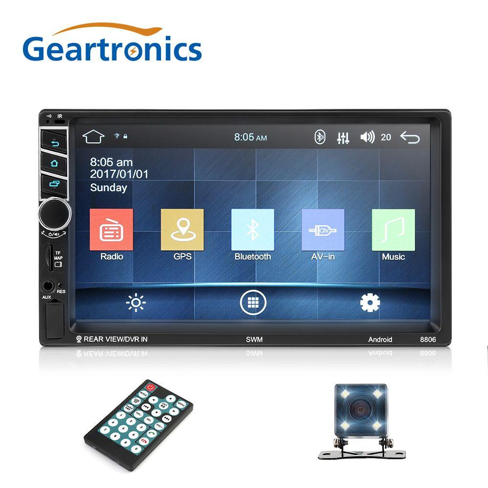 2Din Android 7.1 zoll Auto Radio GPS Navigation Quad-Core-Multimedia Radio Touch Screen WiFi 1080 p Bluetooth MP5 Player Autoradio