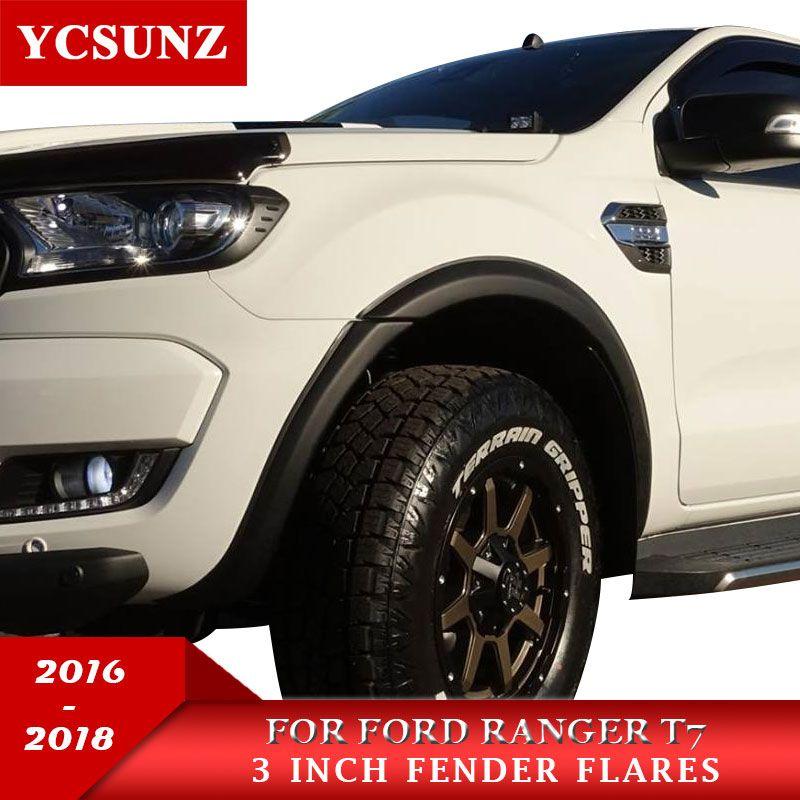 3 zoll Fender Flares Rad Arch Für Ford Ranger T7 2016 2017 2018 Wildtrak Doppel Kabine