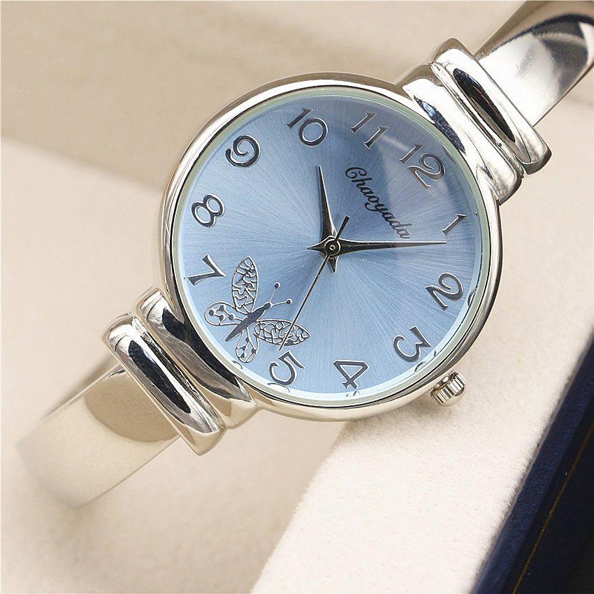 Nouveau Montres Femmes Mode Horloge Dames Élégantes Argent Bracelet de Montre Montre Femme Femmes Poignet Quartz Montre Relojes Mujer 2016