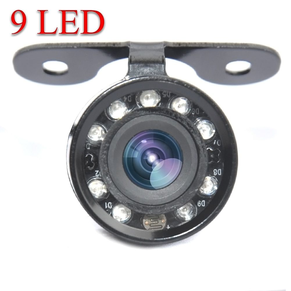 9 LED 170 Degree Parking Assistance IR Waterproof  Night Vision Rear View Backup Reverse Camera