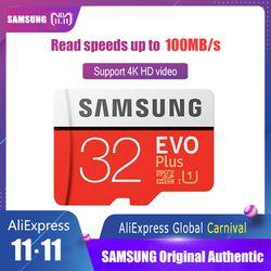 100% Original SAMSUNG EVO+ Micro SD Card 128GB 16G 32GB Class10 SDHC SDXC UHS-1 Memory card 256GB MicroSD TF Card 64GB 80MB/s