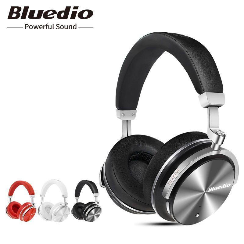 Casque bluetooth Original Bluedio T4S avec microphone et casque sans fil antibruit actif ANC