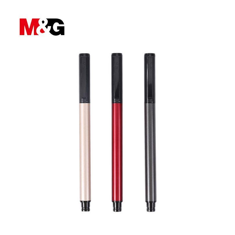 M & G gel 0.5mm étudiants stylos pratique école & fournitures de bureau normal gel stylos à bille pour hommes d'affaires simple bureau stylos