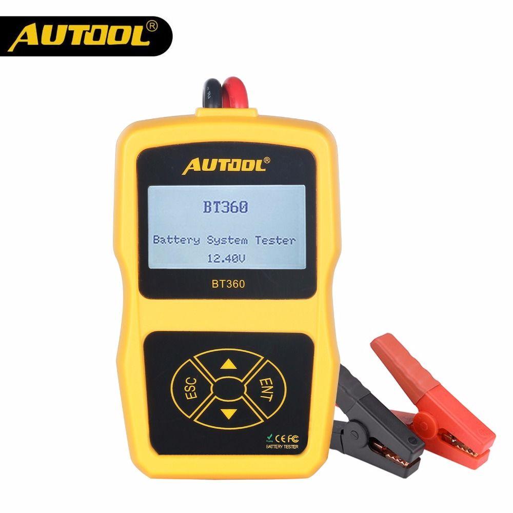 AUTOOL BT360 12V testeur de batterie de voiture analyseur de Test de Diagnostic automobile numérique