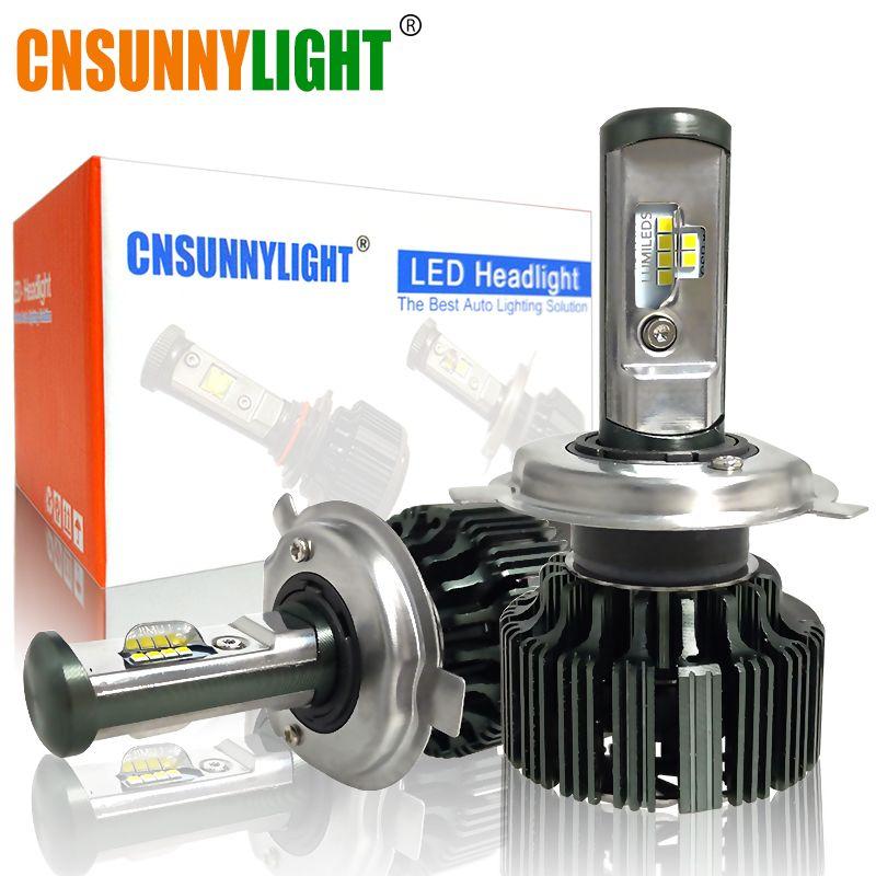 CNSUNNYLIGHT H4 H7 H11 H1 CSP LED 9005/HB3 9006/HB4 H13 9004 <font><b>9007</b></font> H3 8000Lm Car Headlight Bulbs Fog Lights White 6000K 12V 24V