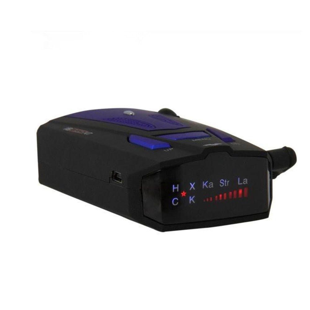 Car Radar Detector 360 Degree 16 Band Scanning LED Display Auto Detectors English or Russian Voice Alert Warning