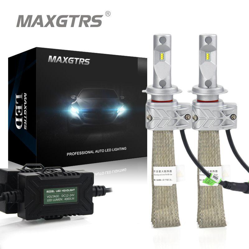 2x H1 H3 H7 H8 H9 H11 H16 9005 HB3 9006 HB4 9012 Car LED Headlight Conversion Kit 8000lm Lumileds Chip Fog Light Bulb Headlamp