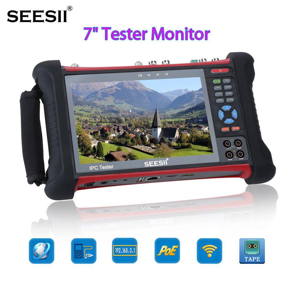 SEESII X7MOVTADHSPLUS 7 4K Tester Monitor IPC TVI CVI Security CCTV Camera Test PTZ Control IP Discovery Touch Screen Wifi 8GB