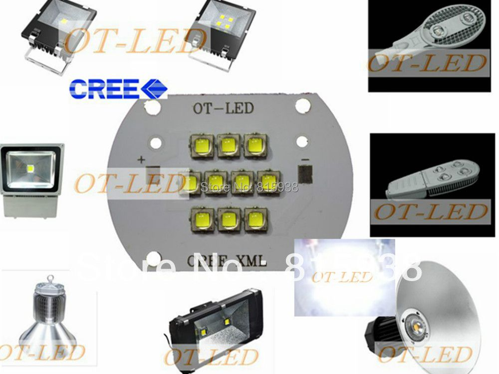 High Quality!CREE XML2 LED 100W LED XM-L2 White 6500K LED Emitter Light DC28-36V 3000mA 100W 12000LM with Cooper PCB