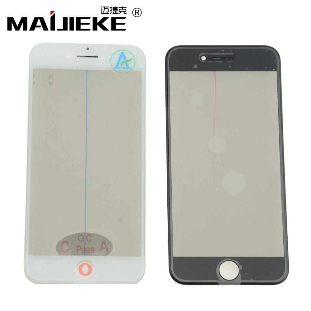 MAIJIEKE 4 in 1 Kaltpressung Frontscheibe Äußeren Glas + Rahmen OCA + Polarisator Für iPhone 8 7 6 6 s plus 5 5 s Bildschirm Glas Ersatz