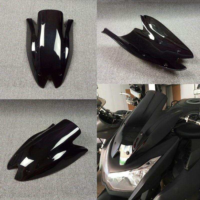 Z1000 2010 2011 2012 2013 Windshield WindScreen Deflectors Double Bubble For Kawasaki  Z 1000 10 11 12 13 Black