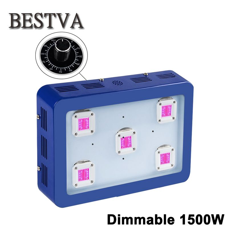 BESTVA Dimmable 1500W LED Grow Light full spectrum for indoor plants hydroponics system houseplants medical Flower seeds indoor