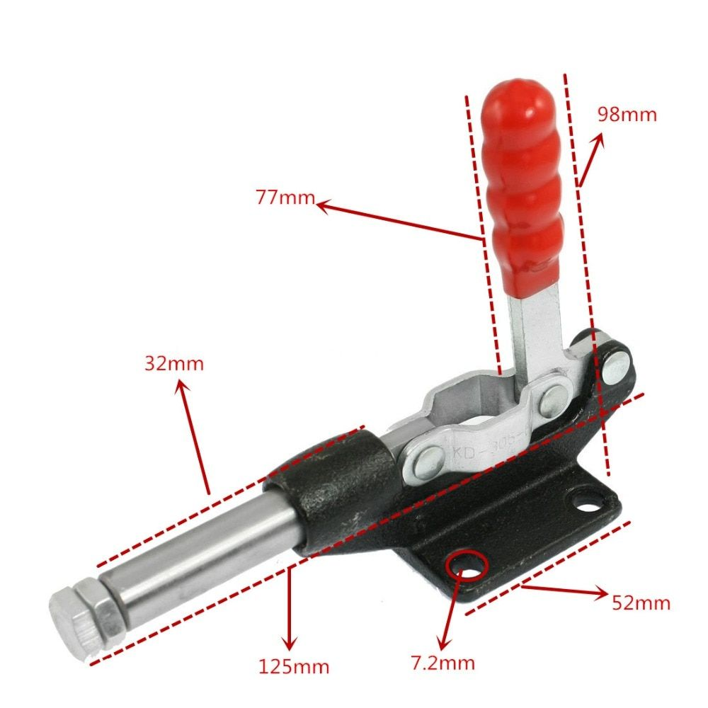 90 градусов Ёмкость 227 кг 500LBS 32 мм плунжера двухтактный зажимное стержень вертикальная рукоятка сварочный аппарат; поддержка оптовая продаж...