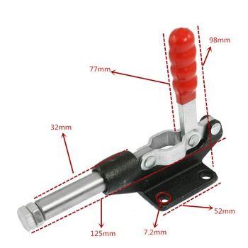 90 Degrés Capacité 227Kg 500Lbs 32mm Course du Piston Push Pull Bascule Pince Tige Bras Vertical Machine De Soudage; soutien en gros