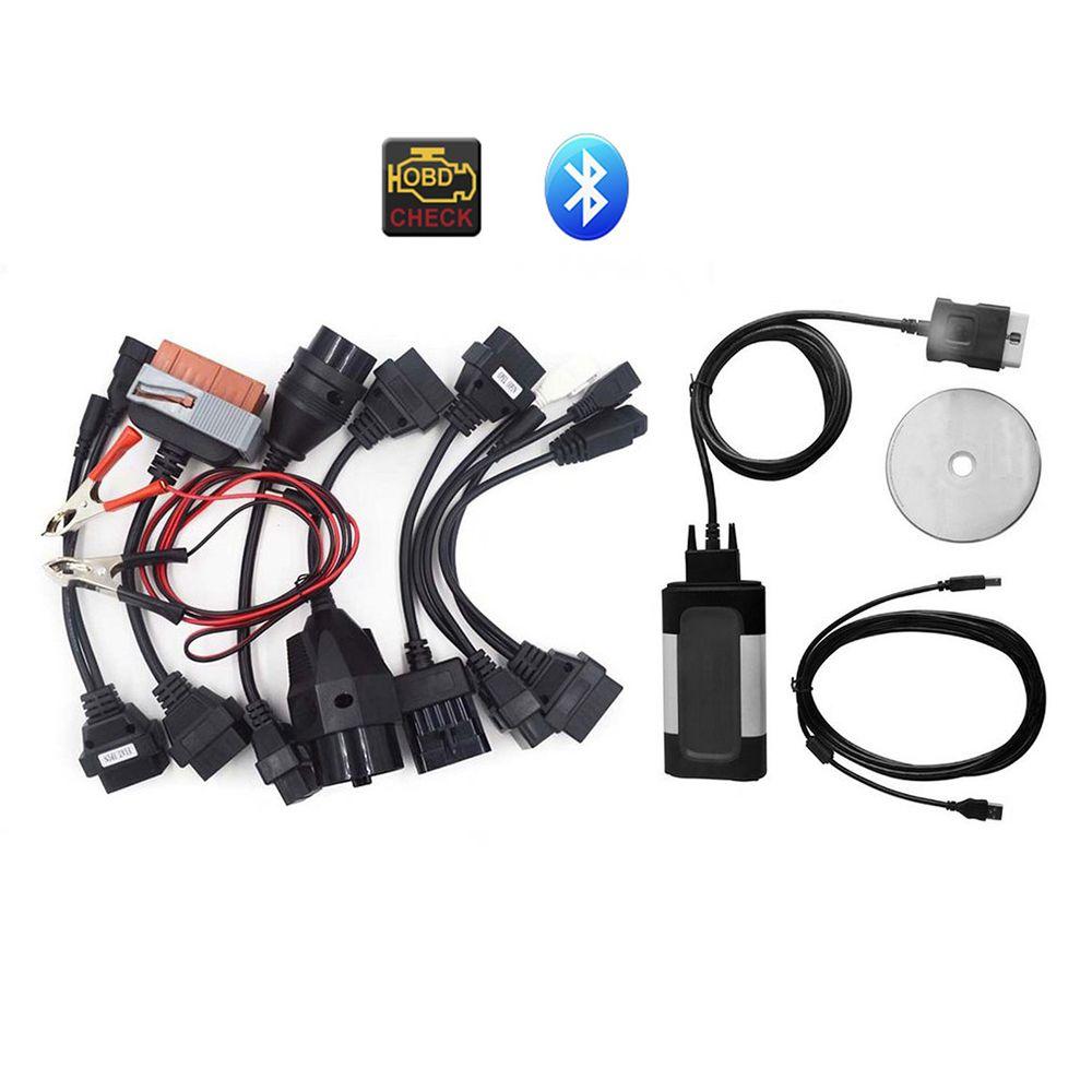 Auto Car Bluetooth TCS CDP Pro Plus for autocom OBD2 OBDII Diagnostic Tool + 8PCS Car Diagnostic Cables Set