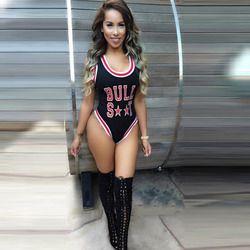 Nouvelles Femmes De Mode Sans Manches Lettre Imprimer Maigre Salopette Barboteuses Body Vêtements combinaison femme OM431