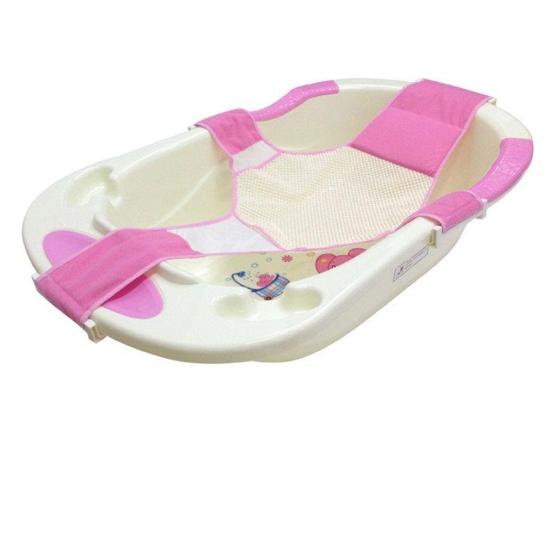 Bebé infantil de Baño Ajustable Asiento de Baño Bañera Asiento de Soporte Del Asiento de Seguridad Infantil de Seguridad Del Bebé Baño de Red Soporte de Ducha