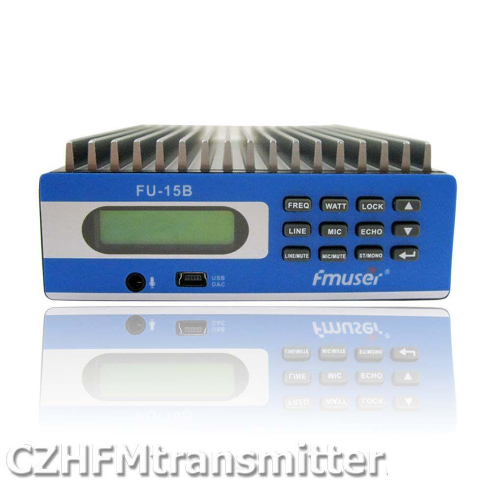 FMUSER FU-15B 0 Watt-15 Watt PREMIUM Professional Pc-steuerung FM Transmitter abdeckung 3 mt-15 km DHL ems-freies verschiffen