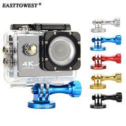 Easttowest Go Pro Mount CNC Aluminum Alloy Tripod Adapter for Go Pro Hero 6 5 4 3 Xiaomi Yi Sjcam Sj4000 Sj5000 Action Camera