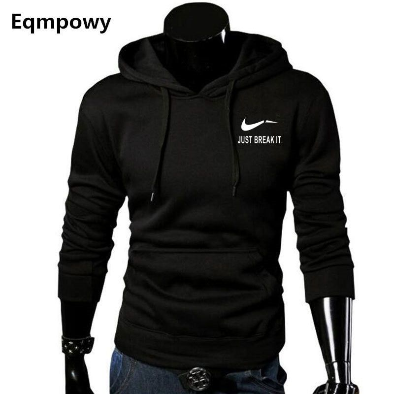 2017 Autumn New <font><b>Arrival</b></font> High JUST BREAK IT Printed Sportswear Men Sweatshirt Hip-Hop Male Hooded Hoodies Pullover Hoody clothing