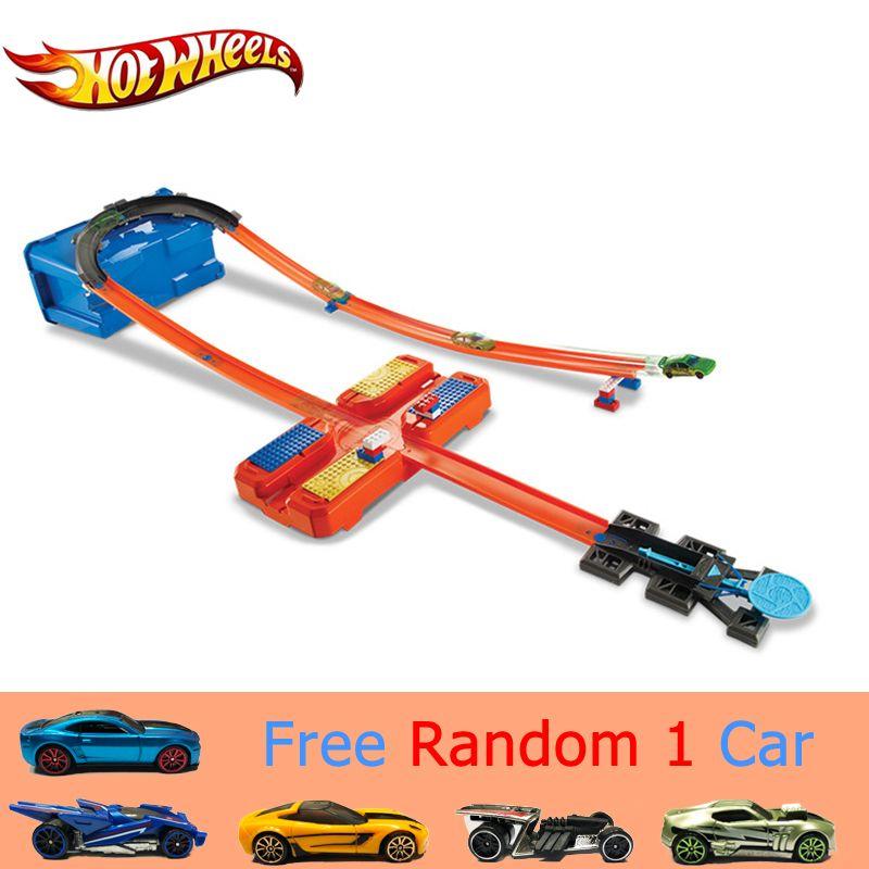 Hot Wheels voiture piste ensemble en plastique multifonctionnel boîte de rangement voiture piste jouet Hotwheels piste modèle DWW95 pour enfant cadeau