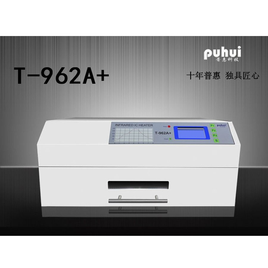 PUHUI T-962A+ Reflow Wave Oven Infrared IC Heater T962A+ Reflow Oven BGA SMD SMT Rework Sation New Product
