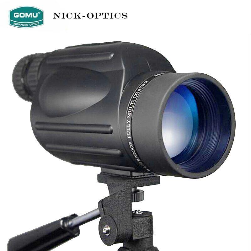 Gomu 10-30X50 HD Zoom Monokulare Vogel Uhr Hohe qualität Stickstoff Wasserdicht Teleskop Fernglas Für Jagd Stoßfest Stativ