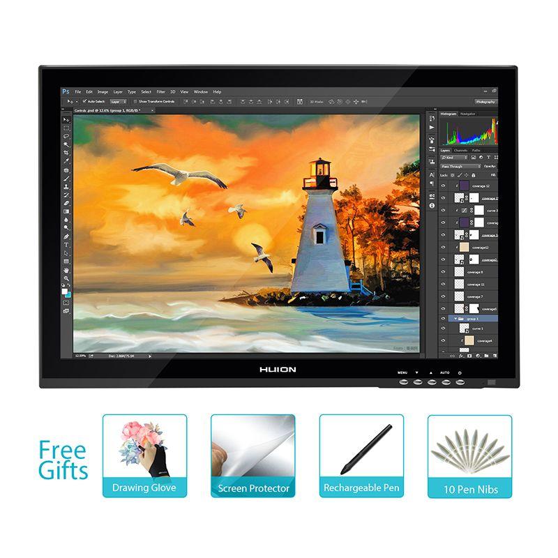 Neue Huion GT-190 19 Interaktive Grafiktablett-monitor Professionelle Animation Monitor Touchscreen-panel Stift Touch-Monitor