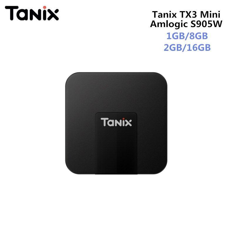 Original TANIX TX3 MINI Android 7.1 Smart TV BOX Amlogic S905W Quad-core CPU 4K Quad Core Set Top Box 2GB/16GB Support HDMI 2.0