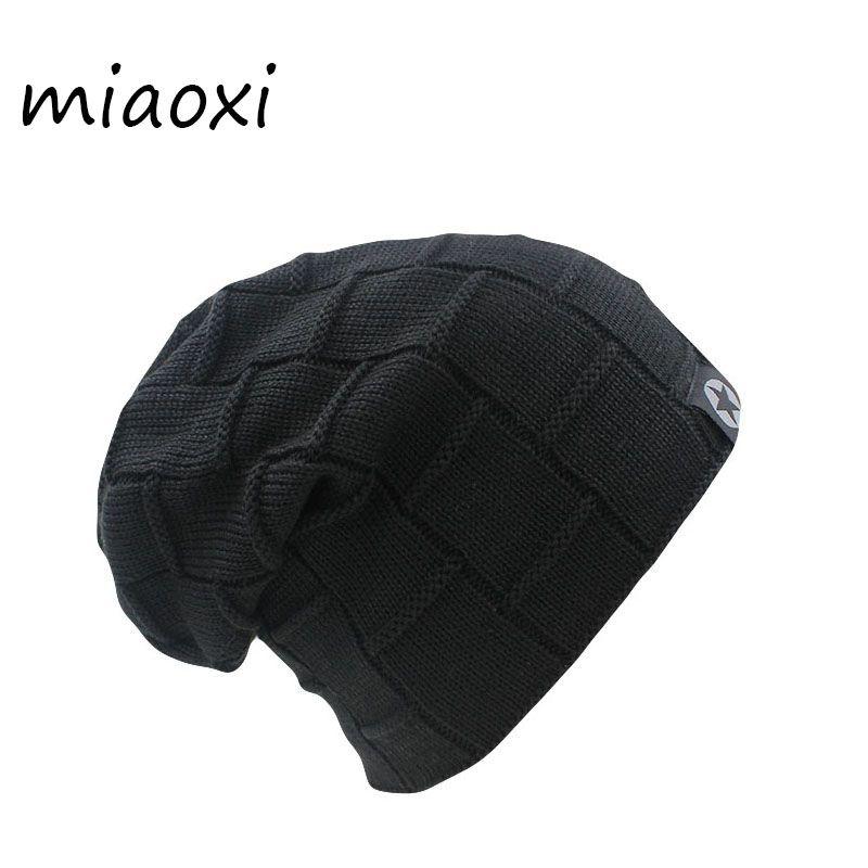 miaoxi Top Sale New Arrival Women Men Knit's Winter Warm Hat 6 colors Female Autumn Hats Elastic Wool Cotton Gorro Casual Caps