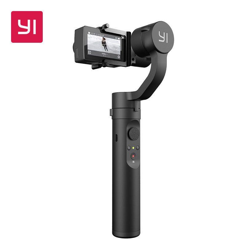 YI D'action Cardan 3-Axis 4 Modes Bluetooth Contrôle 6-8 Heures Batterie de poche Stabilisateur pour YI 4 K Plus 4 K YI Lite D'action Caméra