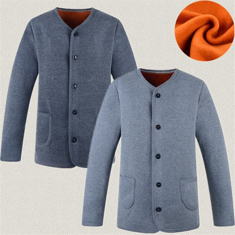 Warm underwear and cardigan worn outside the elderly, jacket, cotton, autumn clothes, men's hair and men's hair.