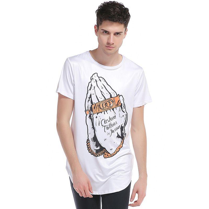 Brand Men's Summer Short T-Shirt Casual Hot Tees Cotton Popular Slim Fit Men's Tee Tops B3993