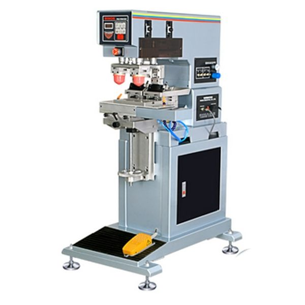 vertical double color pad printer,pad printing machine 2 color
