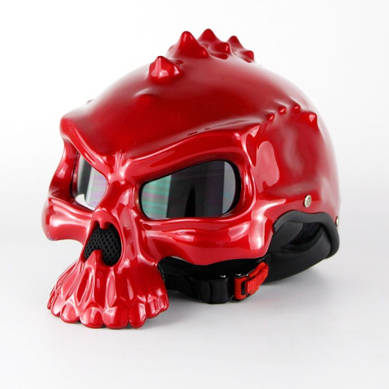 Harley Motorcycle <font><b>Helmet</b></font> Motor biker Skull Capacetes Half Face Casco Retro Style Casque Masei 489