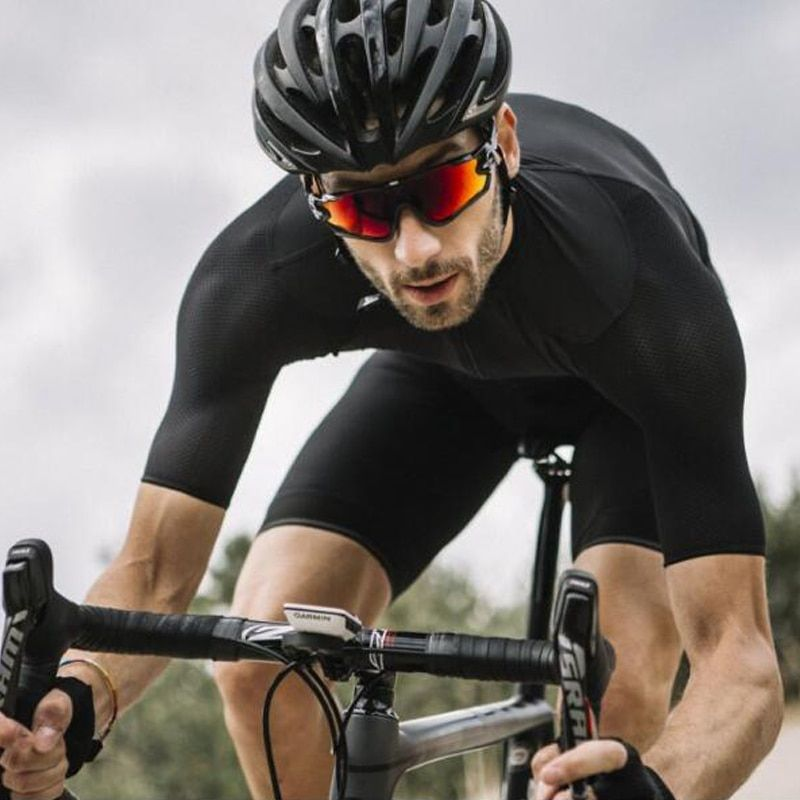 RCC Raphp SCHWARZ TOP QUALITÄT PRO TEAM AERO skinsuit ANGEBOTE AEROSUIT Triathlon geschwindigkeit radfahren kits Ropa Ciclismo 3 HINTEN TASCHE
