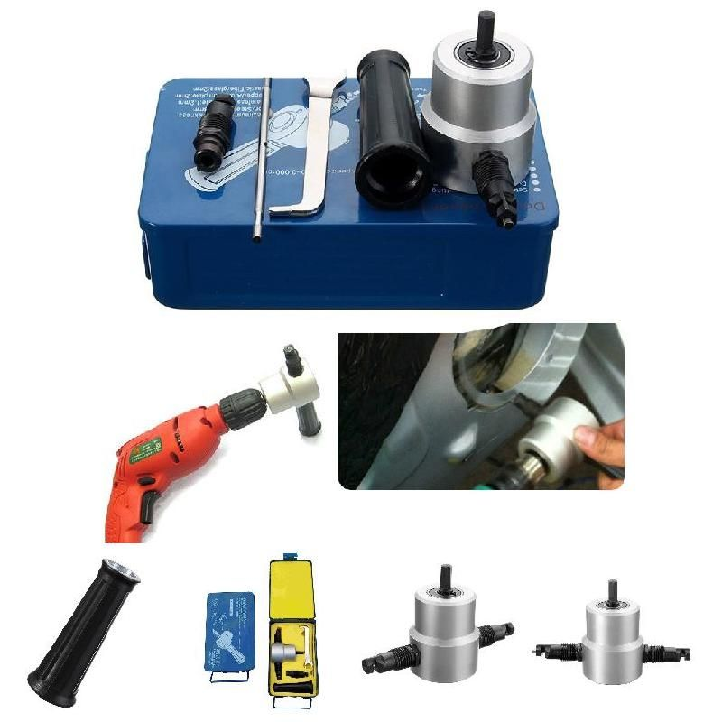 Metal Cutting Double Head Drill Ultimate Multipurpose Nibbler Saw Cutter Holder Tool Power Drill Attachment Kits --M25
