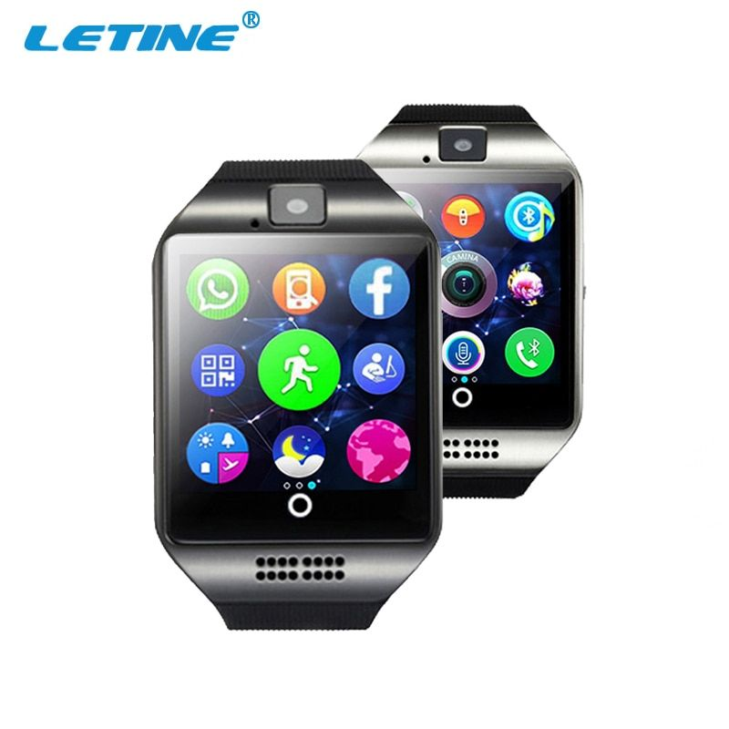 LETINE Q18 Smart Watches Phone Bluetooth Smartwatch Men Women Camera TF Sim Card Clock for Android Smartfone PK gt 08 GT88 dz 09