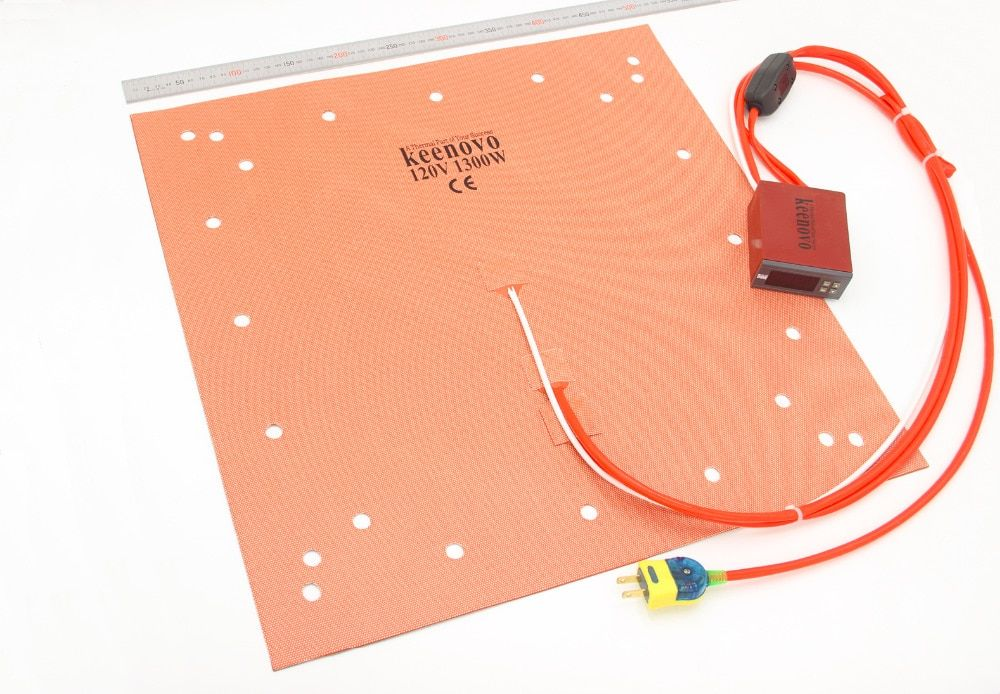 Keenovo Silicone Heater CR-10 S5 3D Printer Heatbed Build Plate Heating Pad 20