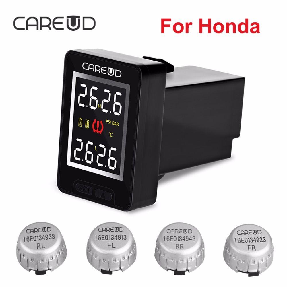 50% Off CAREUD U912 TPMS Car Tire Pressure Wireless Monitoring System 4 External Sensors LCD Display Embedded Monitor For Honda