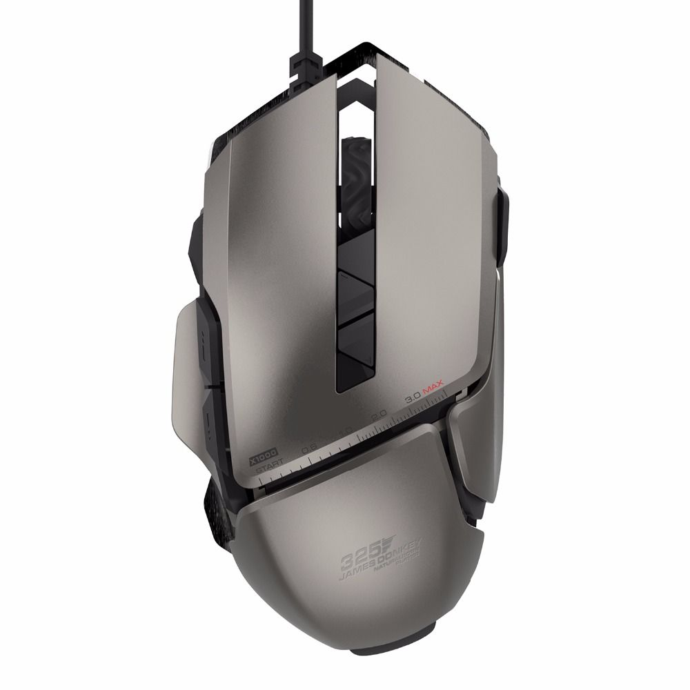 James Donkey 325RS USB Wired Laser Game Mice with 4 Adjustable 7200DPI 7 Buttons Gaming Mouse For PC Laptop Desktop Souris gamer