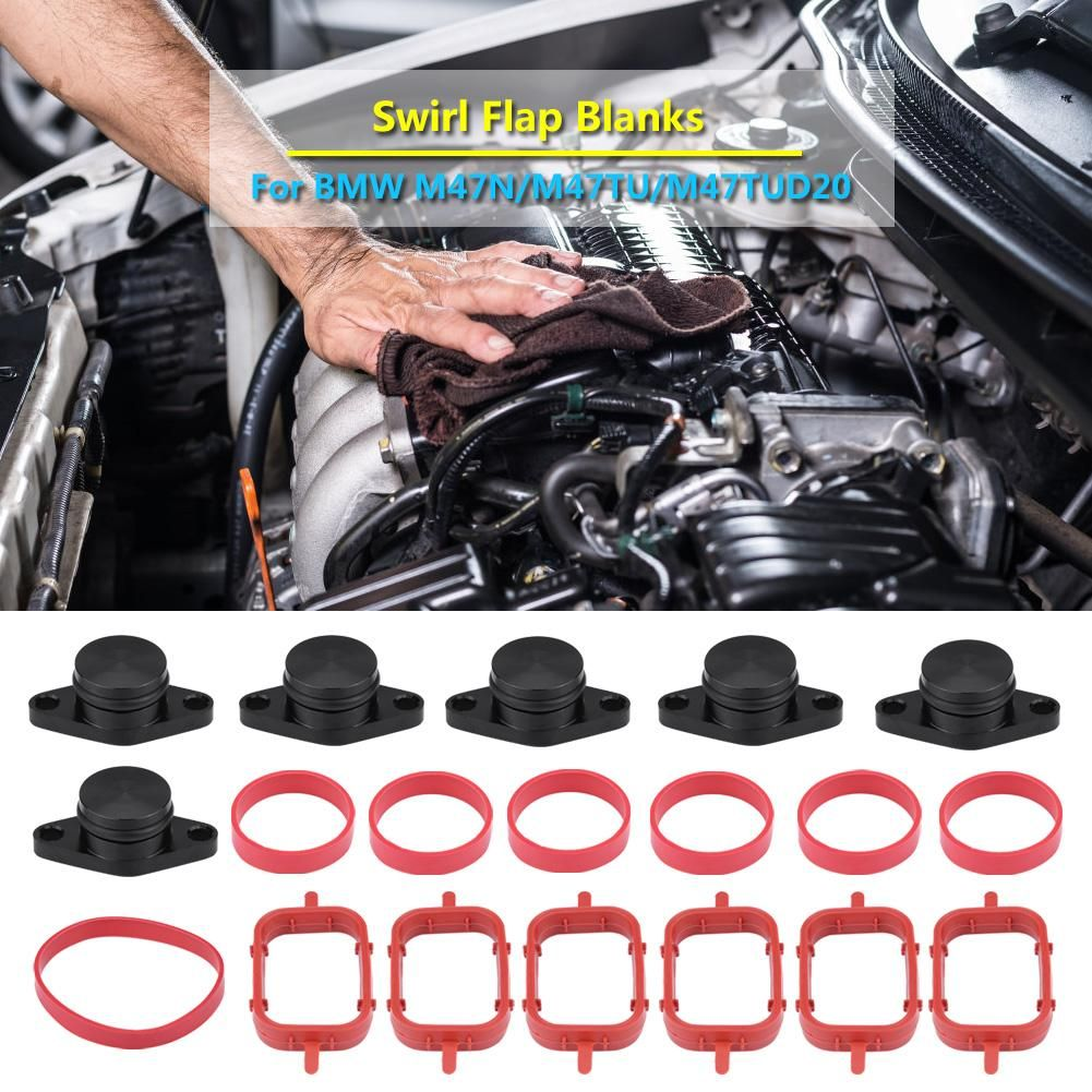 6x 22mm 6x 33mm Car Auto Engine Intake Diesel Swirl Flap Blanks Repair Kit With Manifold Gaskets for BMW
