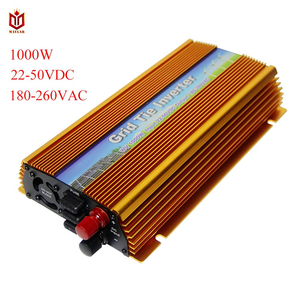 MAYLAR@ 22-50VDC 1000W Solar Grid Tie Inverter with MPPT PV on Grid Inverter, Output 180-260V.50hz/60hz, For Alternative Energy