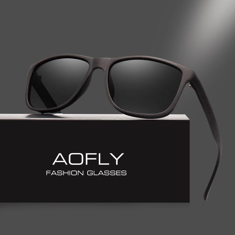 AOFLY Marca Diseño Gafas de Sol Polarizadas de Los Hombres de Conducción Gafas de Sol de La Vendimia Retro Espejo Gafas Gafas Masculinas Gafas de Sol del AF8031