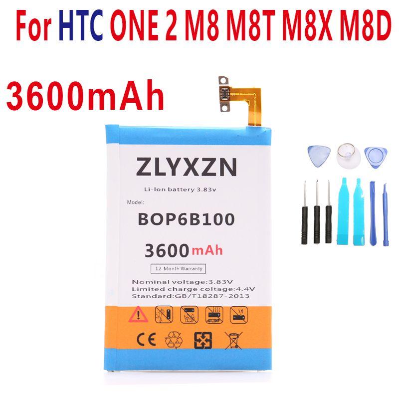 3600mAh B0P6B100 BOP6B100 Battery for HTC ONE M8 one 2 M8T M8X M8D E8 M8SW M8ST M8SD +tools