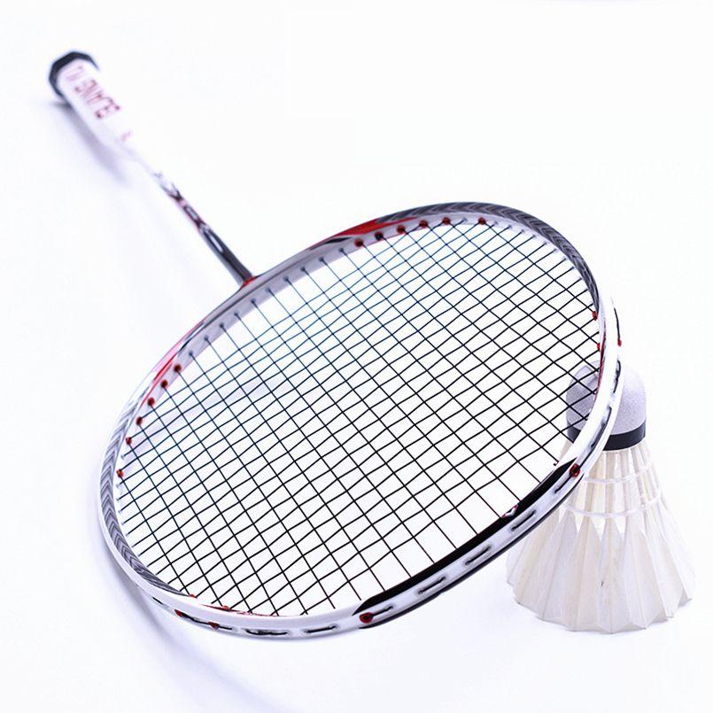 LOKI N90 Professionelle Carbon Badminton Schläger 7U 67g 30 £ Aufgereiht Badminton Schläger Sport Ausrüstung mit Griffe