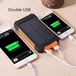 Pour XIAOMI puissance banque 20000 mah Portable Solaire Power Bank 20000 mAh Externe Batterie DOUBLE Ports powerbank Chargeur Mobile Chargeur