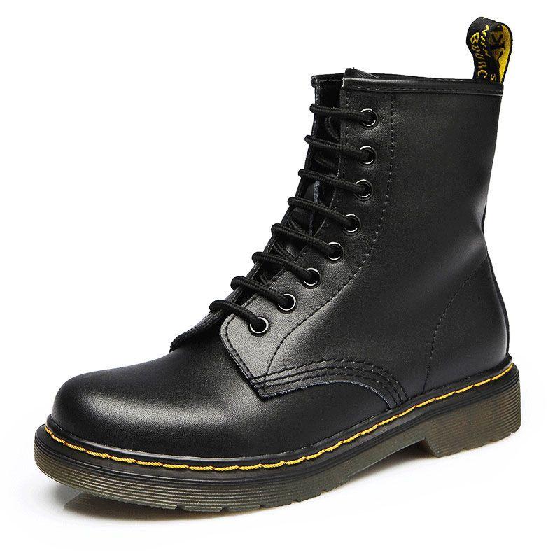 2019 bottes femmes en cuir véritable chaussures pour bottes d'hiver chaussures décontracté printemps véritable cuir Botas Mujer femme bottines