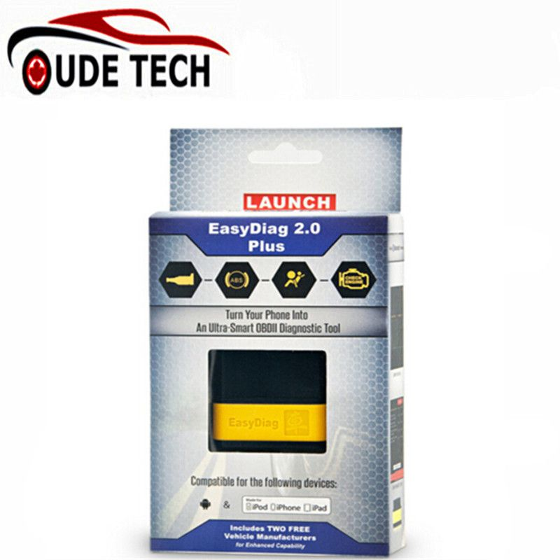 Original Launch X431 EasyDiag Plus 2.0 OBDII Code Reader for Android ios easy diag with 2 Free Vehicle Software