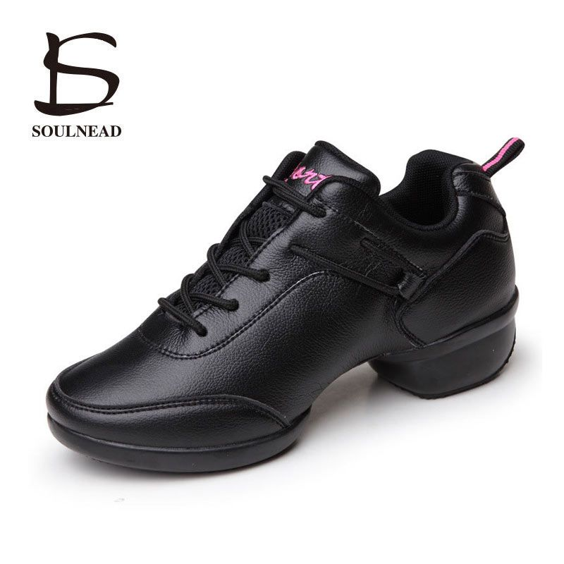 Dancing Sneakers Women Shoes Platform Comfortable PU Sports Feature Soft Outsoles Jazz Modern Dance Shoes Leather Sneakers Women